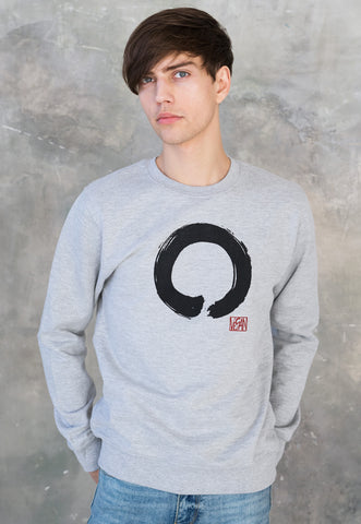 Vegan Sweatshirt - Enso Buddhist Circle Vegan