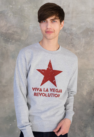 Vegan Sweatshirt - Viva La Vegan Revolution