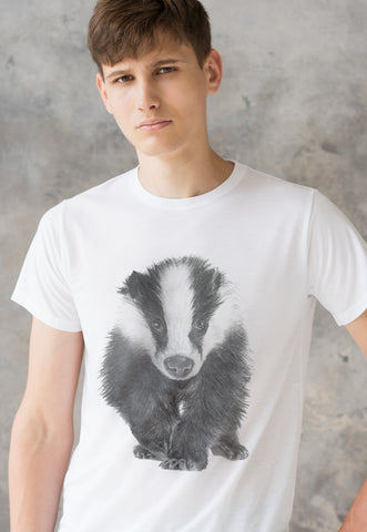 Badger T Shirt Artist Pencil Sketch Drawing