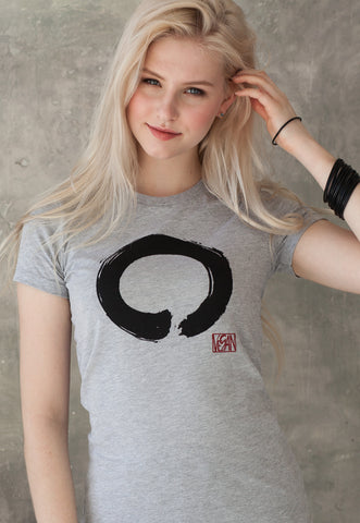 Women's Vegan T Shirt - Enso Buddhist Circle