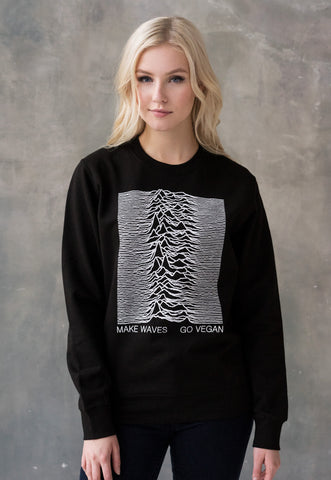 Vegan Sweatshirt - Make Waves Go Vegan