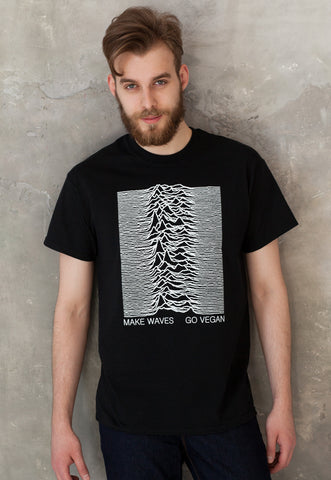 Men's Vegan T Shirt - Make Waves Go Vegan