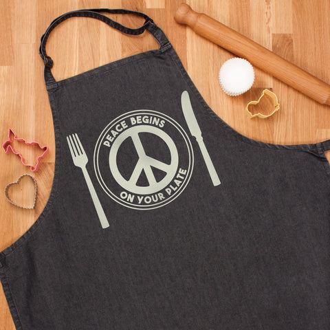 Vegan Apron - Peace Begins On Your Plate