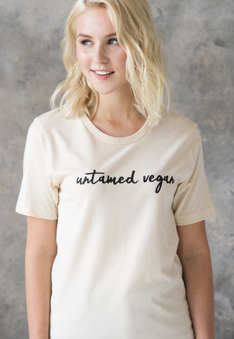 Women's Unisex Vegan T Shirt - Untamed Vegan
