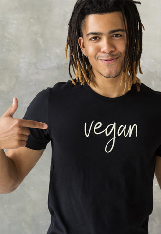 Men's T Shirt - Vegan Calligraphy