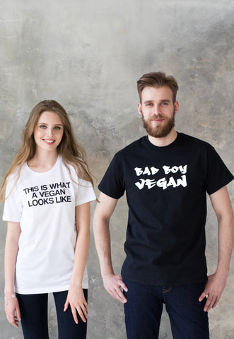 Matching Couple T Shirts - Vegan Her's & His