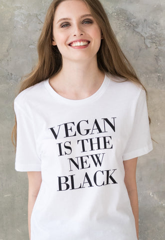 Women's Unisex Vegan T Shirt - Vegan Is The New Black