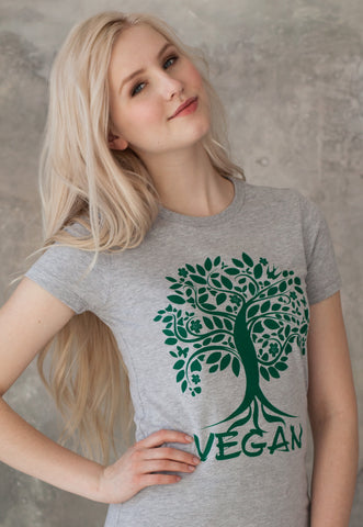 Women's Vegan T Shirt - Tree Of Life