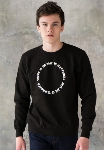 Vegan Sweatshirt - Happiness Is The Way