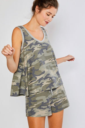 Camouflage Trapeze Tank Top