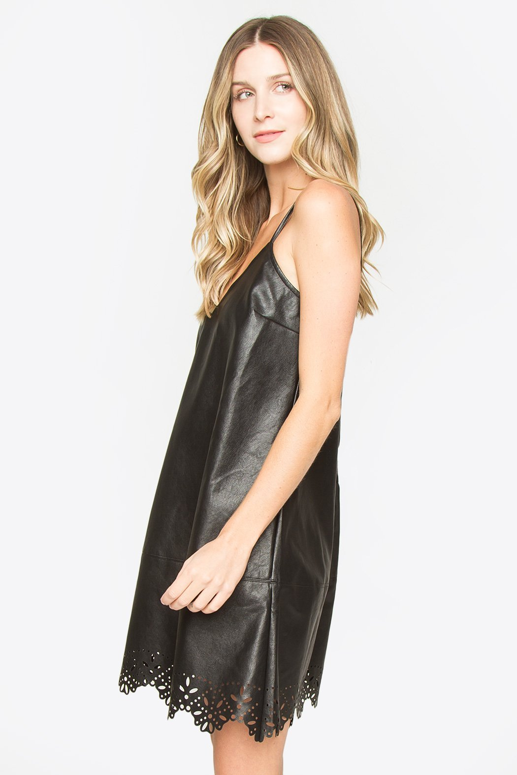 Cooper Leather Cami Dress