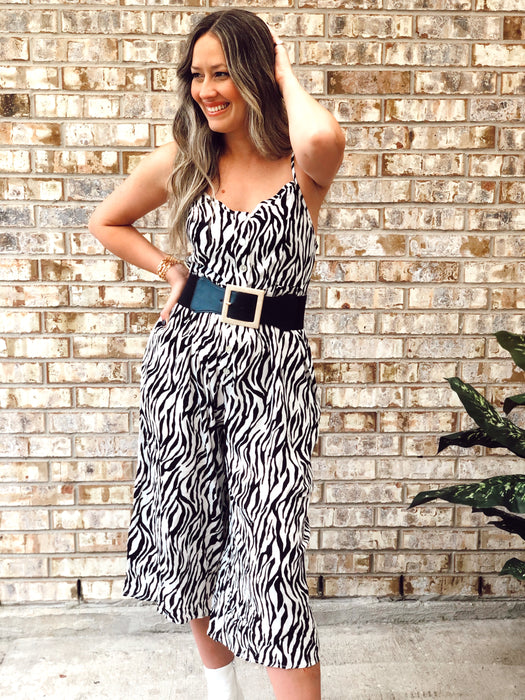 Norma Black White Jumpsuit