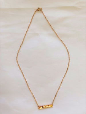 "Gold ""Bff"" Chain Necklaces"