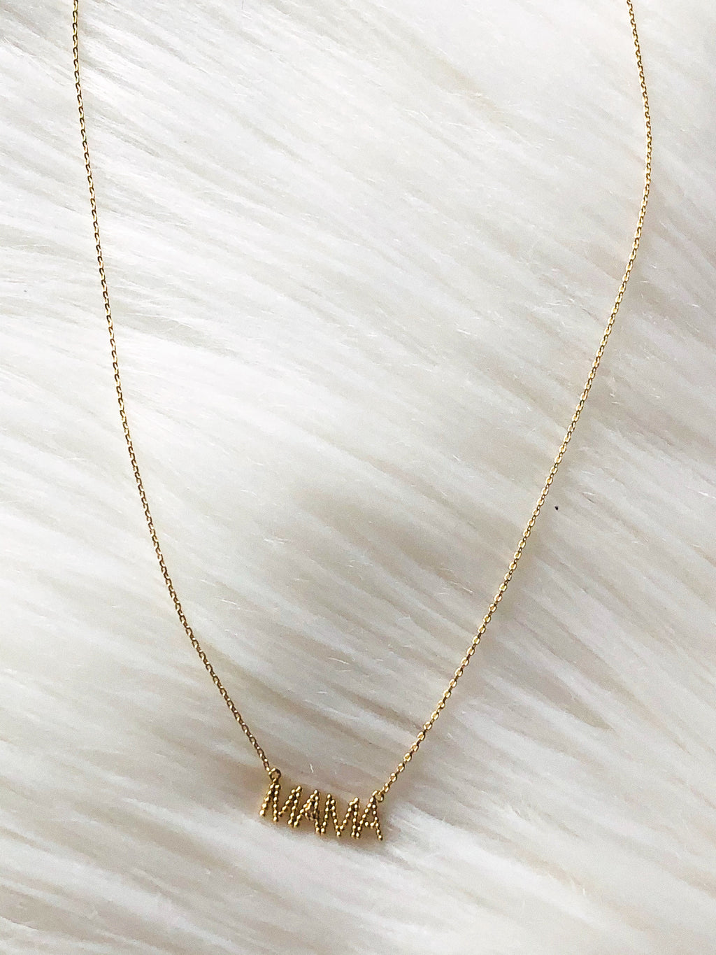"""Mamá"" Gold Necklace"