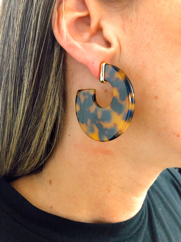 Leopard Hoop Earrings
