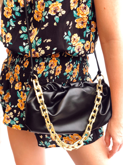 Mara Dumpling Golden Chain Bag
