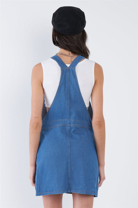Celia Indigo Denim Overall Jean Dress