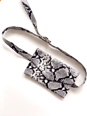 Snake Print Belt Bag / Clutch