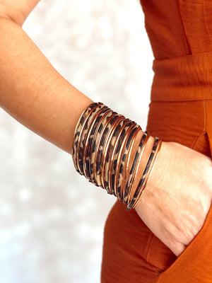 Brown Leopard Bangles