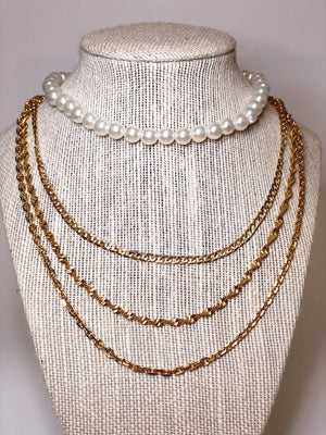 Pearl Elastic Necklaces