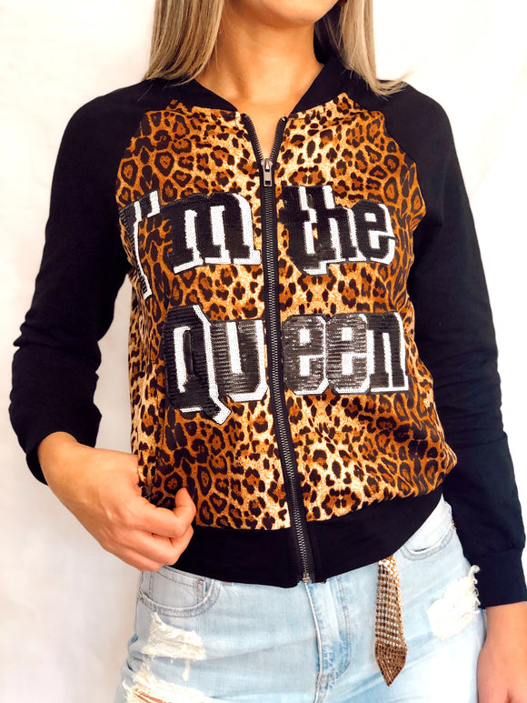 Black Animal Print Jacket