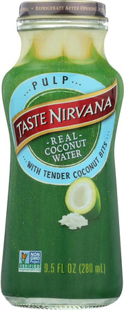TASTE NIRVANA: Coconut Water with Pulp, 9.5 oz - Kkdu Market