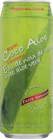 TASTE NIRVANA: Real Coco Aloe Juice in Can, 16.2 oz - Kkdu Market