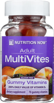 NUTRITION NOW: Multi Vites Adult Gummy Vitamins Berry Peach & Orange, 70 Count - Kkdu Market