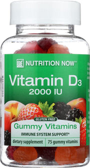 NUTRITION NOW: Vitamin D Adult Gummy Vitamins 2000 Iu, 75 Gummies - Kkdu Market