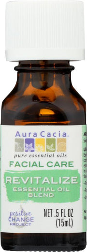 AURA CACIA: Oil Essential Facial Revitalize 0.5 oz - Kkdu Market