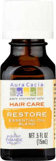 AURA CACIA: Essential Oil Hair Care Restore 0.5 oz - Kkdu Market