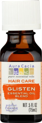 AURA CACIA: Essential Oil Hair Care Glisten 0.5 oz - Kkdu Market