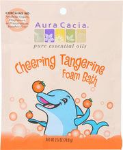 AURA CACIA: Tangerine & Sweet Orange Essential Oils Cheering Foam Bath, 2.5 oz - Kkdu Market