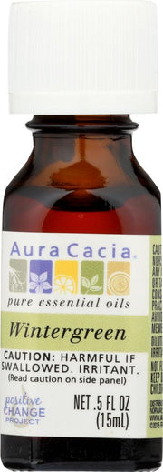 AURA CACIA: 100% Pure Essential Oil Wintergreen, 0.5 Oz - Kkdu Market
