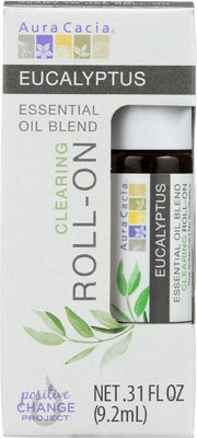 AURA CACIA: Oil Essential Roll-on Eucalyptus 0.31 oz - Kkdu Market