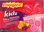 EMERGEN-C: Kidz Vitamin C Fizzy Drink Mix Fruit Punch, 30 Count - Kkdu Market
