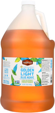 MADHAVA: Organic Golden Light Blue Agave Nectar, 176 oz - Kkdu Market