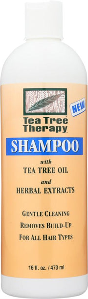 TEA TREE THERAPY: Shampoo with Tea Tree Oil and Herbal Extracts, 16 oz - Kkdu Market
