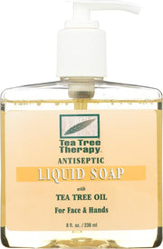 TEA TREE THERAPY: Antiseptic Liquid Soap with Tea Tree Oil, 8 oz - Kkdu Market