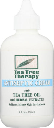 TEA TREE THERAPY: Antiseptic Cream with Tea Tree Oil and Herbal Extracts, 4 oz - Kkdu Market
