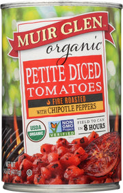 MUIR GLEN: Tomato Fire Roasted Diced With Chipotle, 14.5 oz - Kkdu Market