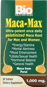 BIO NUTRITION: Maca-Max 1000 mg, 30 tablets - Kkdu Market