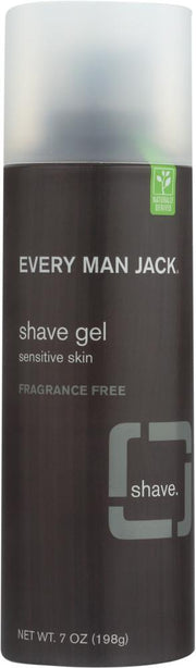 EVERY MAN JACK: Sensitive Skin Shave Gel Fragrance Free, 7 oz - Kkdu Market