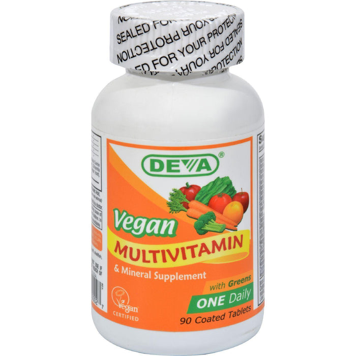 Deva Vegan Multivitamin And Mineral Supplement - 90 Coated Tablets - Kkdu Market