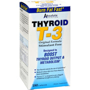 Absolute Nutrition Thyroid T-3 - 180 Capsules - Kkdu Market