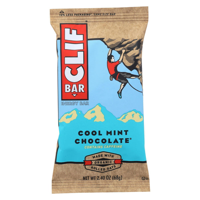 Clif Bar - Organic Cool Mint Chocolate - Pack Of 12 - 2.4 Oz - Kkdu Market