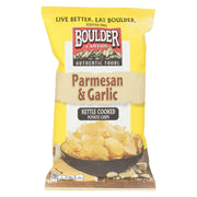 Boulder Canyon Natural Foods Potato Chips - Parmesan Garlic - Pack Of 12 - 5 Oz - Kkdu Market