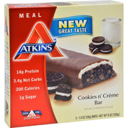 Atkins Advantage Bar Cookies N Creme - 5 Bars - Kkdu Market