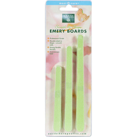 Earth Therapeutics Smooth And Shape Emery Boards - 15 Files - Kkdu Market