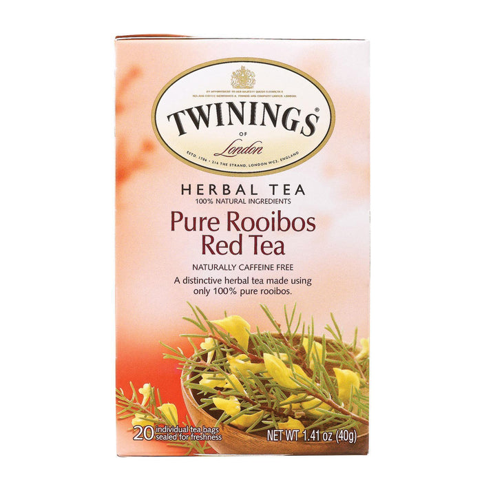 Twining's Tea Herbal Tea - Pure Rooibos Red - Pack Of 6 - 20 Bags - Kkdu Market
